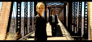 Dagny Taggart and Hank Rearden on old bridge - from Atlas Shrugged Part 1