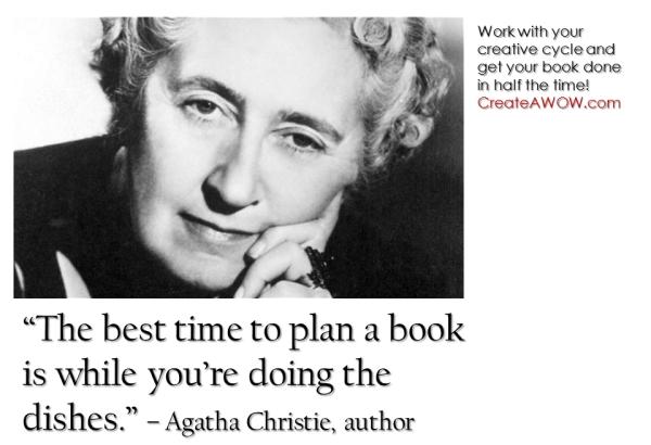 Agatha Christie on book writing