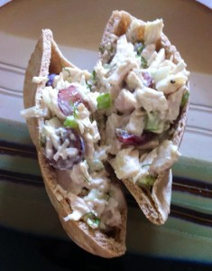 chicken salad on pita
