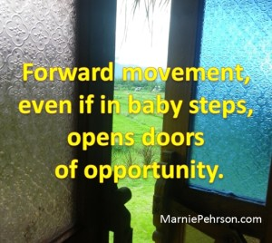 forward movement opens doors