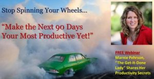 Stop spinning your wheels and make it happen