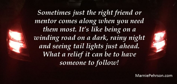 friends are like taillights on a dark night